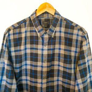 J.Crew Men Size L Shirt Plaid Long Sleeve Cotton